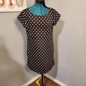 9-H15 StCl by Anthropology Polka Dot Dress